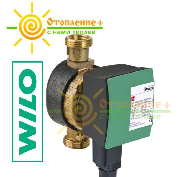 Насос рециркуляционный WILO Star-Z NOVA  для систем горячего водоснабжения