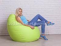 """Кресло мешок груша """"Большой"""" салатового цвета"""