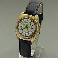 Часы с будильником Полет Poljot позолоченные, фото 1