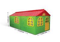 Игровой домик со шторками, Doloni, зеленый, 02550/23
