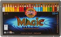 """Художественные карандаши с многоцветным грифелем  KOH-I-NOOR """"Magic"""" 23+1 цвет (340802)"""