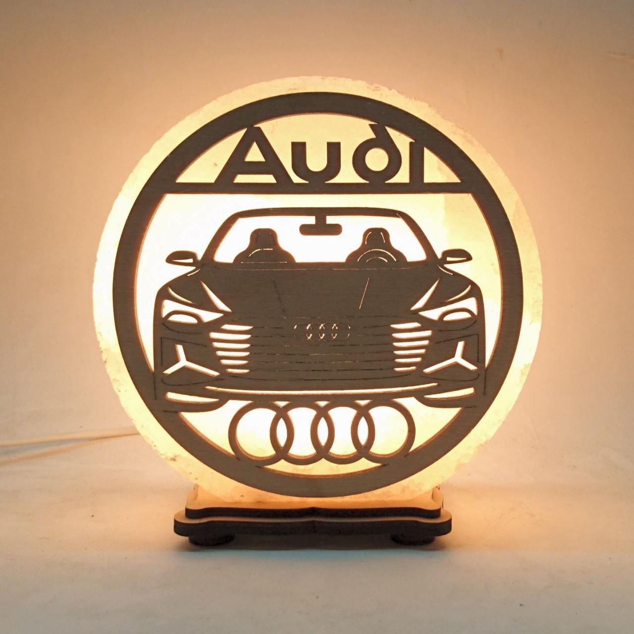 Соляной светильник круглый Audi