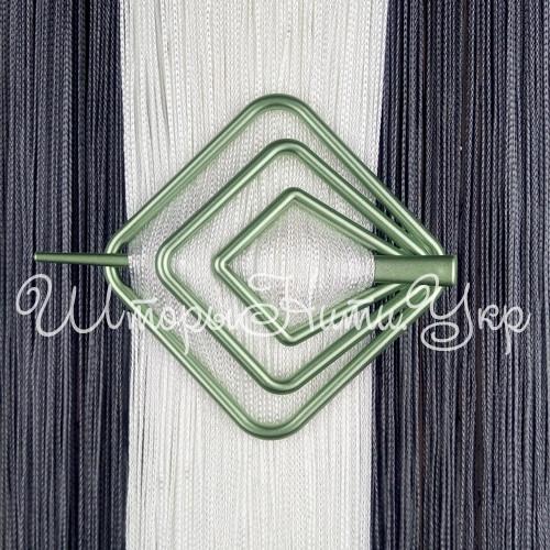 Заколка для штор нитей Квадрат №9 Оливковый
