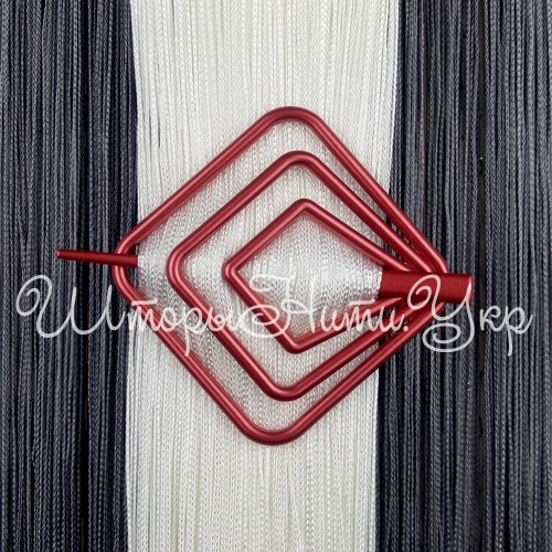 Заколка для штор нитей Квадрат №11 Красный