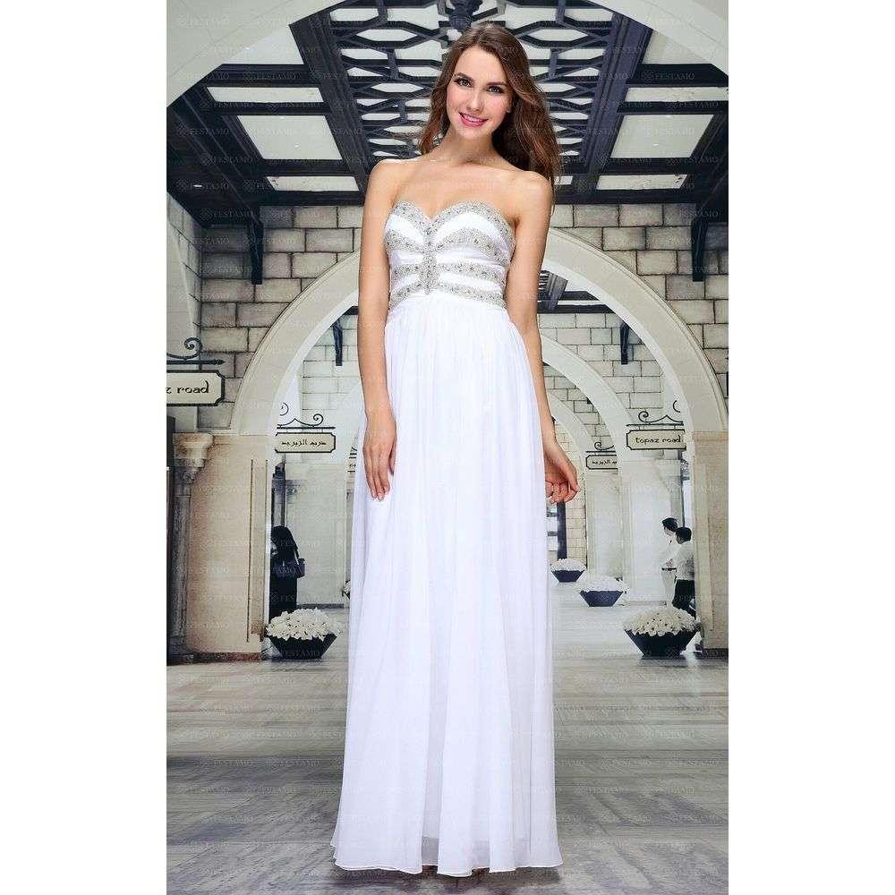 Женское платье от Festamo - белый - Мкл-F1627-белый