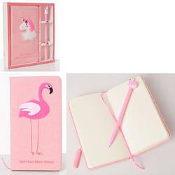 Набор для творчества, дневник, ручка, 2 вида (фламинго, единорог), MK2606