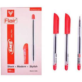 """Ручка кулькова масляна Flair """"SMS"""" червона"""