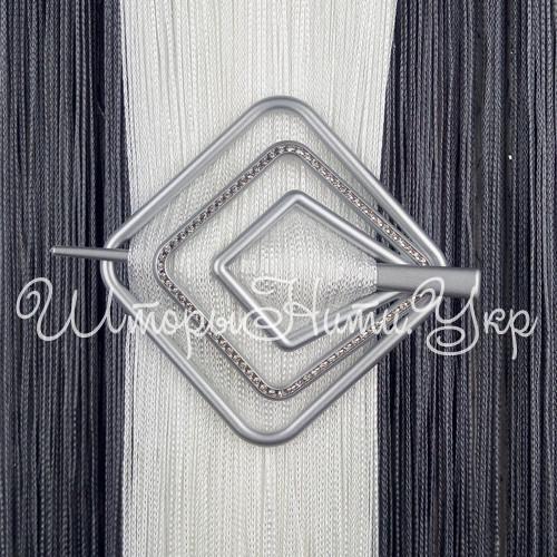 Заколка для штор нитей Квадрат Элит №4 Серебро матовый
