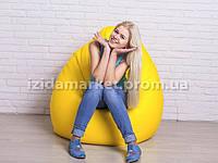 """Кресло мешок груша """"Большой"""" желтого цвета"""