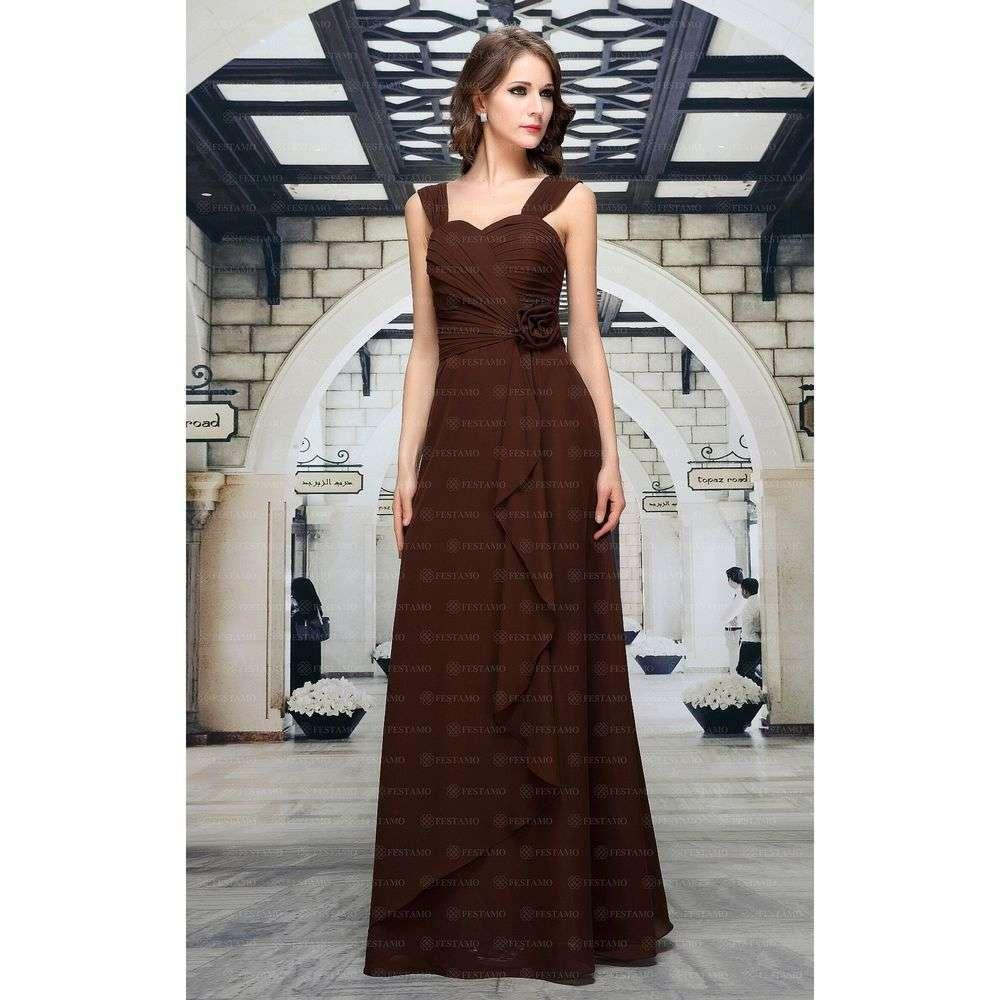Женское платье от Festamo - chocolate - Мкл-F1365-2-chocolate