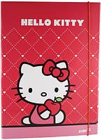 Kite 2015 Папка на гумці картон А4 Hello Kitty