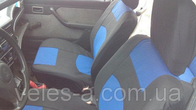 Чехлы сидений универсальные с синими вставками