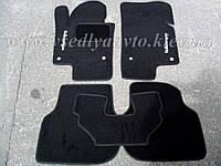 Ворсовые коврики Volkswagen Jetta  (2011-2019) (Черные)