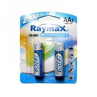 Аккумуляторные батарейки AA R6 Raymax 2100 mAh, 2 шт, 1.2V (цена за 1 аккумулятор)