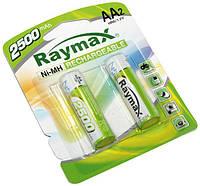 Аккумуляторные батарейки AA R6 Raymax 2500 mAh, 2 шт, 1.2V (Цена за 1 шт.)