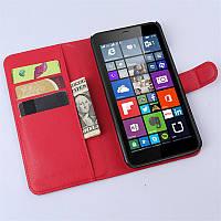 Чехол IETP для Microsoft Lumia 640XL книжка кожа PU красный