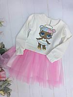 Детский комплектюбка-пачка и кофтадля девочек 3-7 лет, розовый
