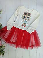 Детский комплектюбка-пачка и кофтадля девочек 3-7 лет, красный