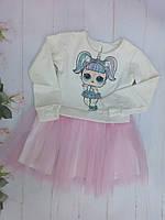 Детский комплектюбка-пачка и кофтадля девочек 3-7 лет, светло-розовый