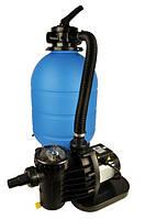 Фильтровальная установка ProAqua 500 (полипропилен) , загрузка песка 75 кг, 8 м³/час, 6 позиционный верхний кл