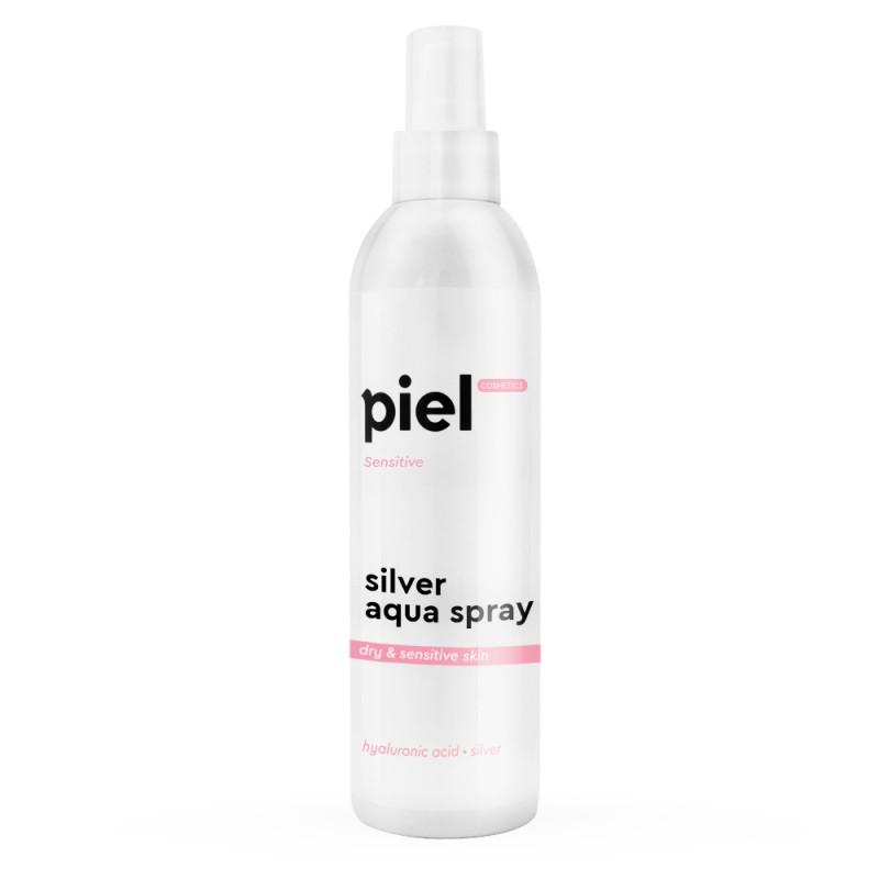 """Piel Cosmetics Silver Aqua Spray Увлажняющий спрей для лица """"Пьель косметик"""". Сухая чувствительная кожа 250мл"""