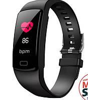 Цветной фитнес-браслет Y5 plus черный цвет