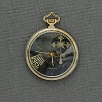 Православные позолоченные карманные часы