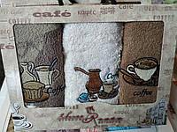 Набор кухонных полотенец 3 шт Турция цвет и рисунок Кофе