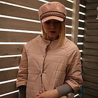 Женская кепи фуражка картуз капитанка с козырьком пудра