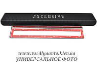 Защита порогов - накладки на пороги Peugeot 3008 с 2009 г. (Premium carbon)