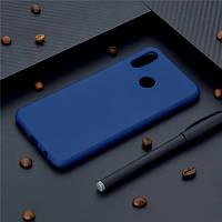 Чехол Style для Huawei P Smart Plus / INE-LX1 Бампер силиконовый синий