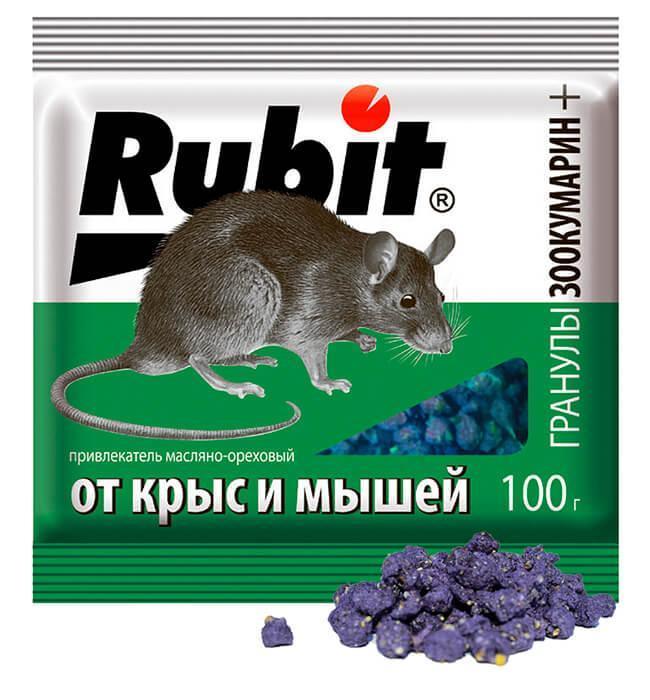 Рубит зоокумарин гран. 100 г (орех)