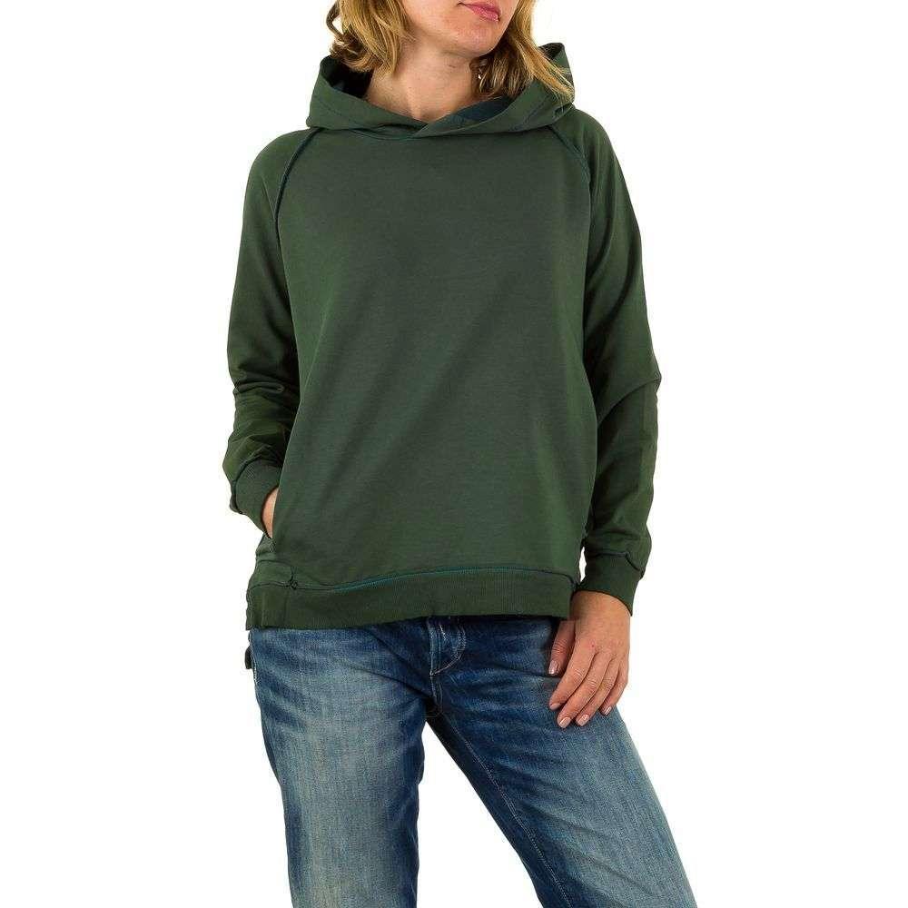 84fdebbb Женская толстовка с капюшоном Carla Giannini (Италия), Темно-зеленый ...