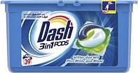 Капсулы для стирки универсал Dash Original 3 в 1 39 капсул