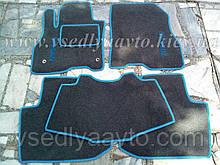 Ворсовые коврики в салон Nissan Leaf (Серые)