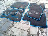 Ворсовые коврики в салон Nissan Leaf (Серые), фото 4