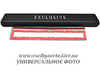 Защита порогов - накладки на пороги Mitsubishi OUTLANDER III с 2013/2015 г. (Premium Carbon)