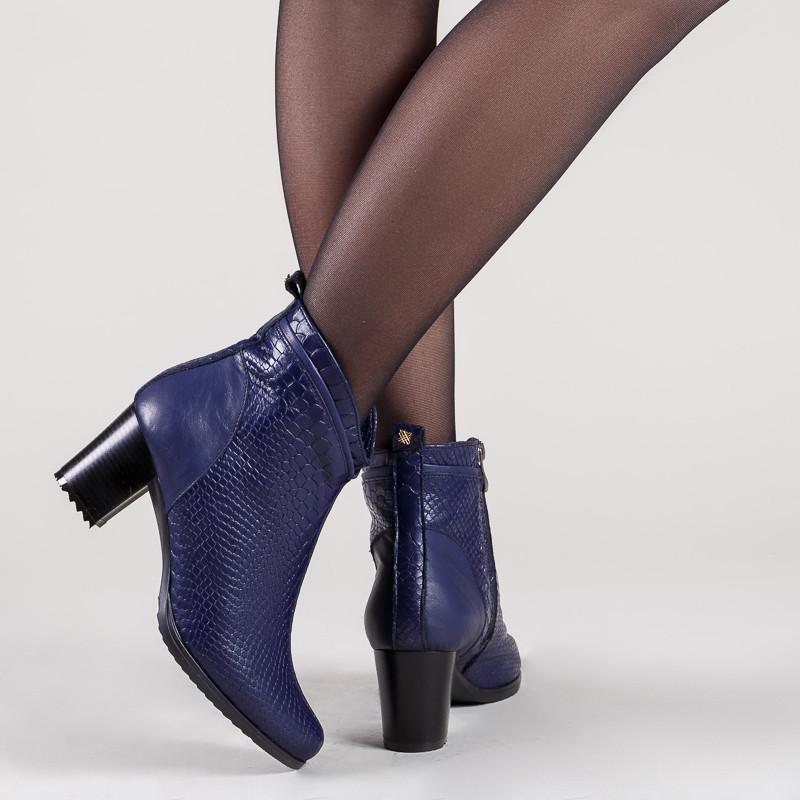 2b711704b Ботинки синие женские на среднем каблуке 6 см . Демисезон. Зима. - Интернет  -