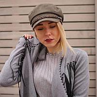 Женская кепи фуражка картуз капитанка с козырьком хаки весна
