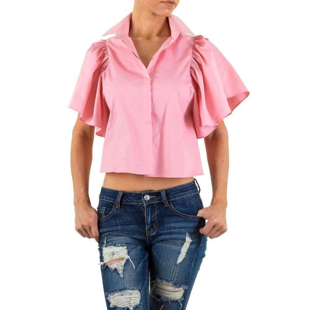 Блузка с короткими расклешенными рукавами Shk Mode (Европа) Розовый