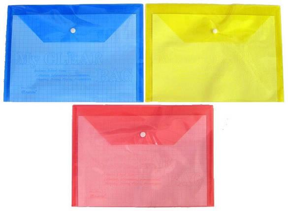 Папка-конверт B6 My CLEAR 16C (плотная), фото 2