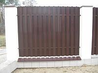 Забор штакетный секция Премиум 2000 х 1000