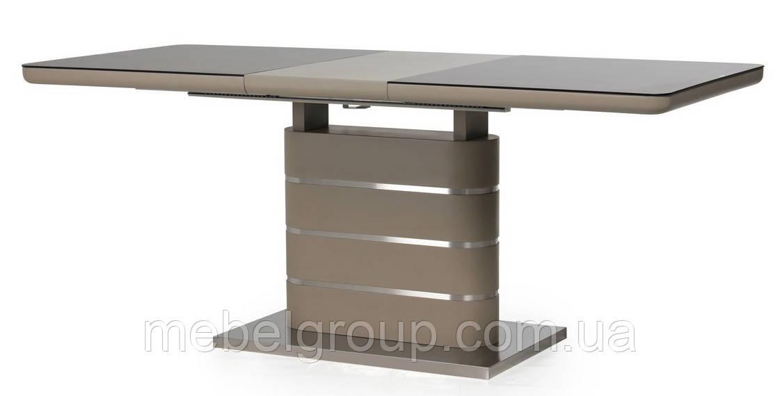 Стол ТМL-530 черный кварц+мокко 140/180x80