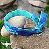 Двусторонняя повязка мятно - синяя