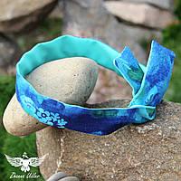 Двусторонняя повязка мятно - синяя, фото 1