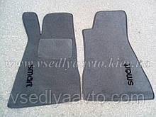 Ворсовые коврики в салон SMART 452 Roadster (серые)