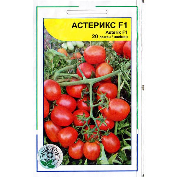"""Насіння томату середньораннього, низькорослого, врожайного """"Астерікс F1 (20 насінин) від Syngenta, Голандія"""