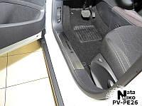 Накладки на внутренние пороги Peugeot 208 5-дверка с 2012 г. (NataNiko)