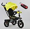 Трёхколёсный велосипед Бест Трайк Best Trike 6088 F - 1340 желтый с черным. Поворотное сиденье.Разные цвета. - Фото