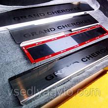 Накладки на пороги Jeep GRAND CHEROKEE IV c 2010 г. (Premium)